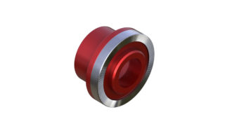 Onyx Cone, Knurled - 15mm x 10mm 100385 in Red