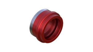 Onyx Endcap, Knurled - Left, ISO 12mm Thru 100382 in Red