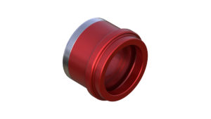 Onyx Endcap, Knurled - Left, ISO 12mm Thru plus 3.5mm 100410 in Red