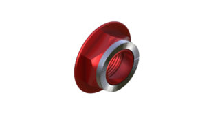 Onyx Endcap, Knurled - Right, HG 12mm Thru 100383 in Red