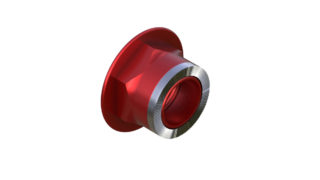 Onyx Endcap, Knurled - Right, HG 12mm Thru 100407 in Red