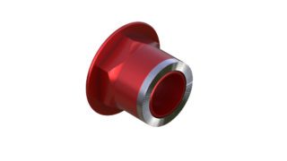 Onyx Endcap, Knurled - Right, HG 12mm Thru plus 3.5mm 100411 in Red