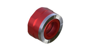 Onyx Endcap, Knurled - Right, XD 10mm Thru 100401 in Red