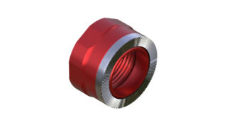 Onyx Endcap, Knurled - Right, XD 12mm Thru 100408 in Red