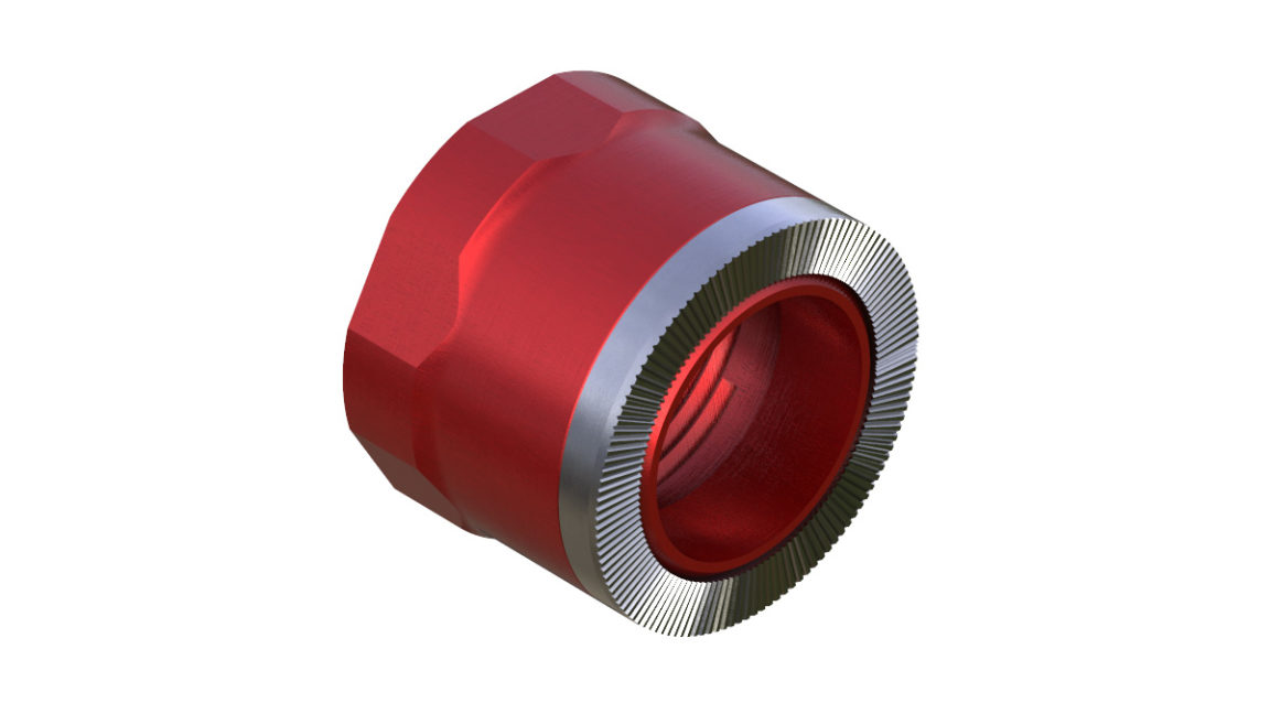 Onyx Endcap, Knurled - Right, XD 12mm Thru plus 3.5mm 100412 in Red