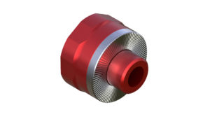 Onyx Endcap, Knurled - Right, XD QR 100405 in Red