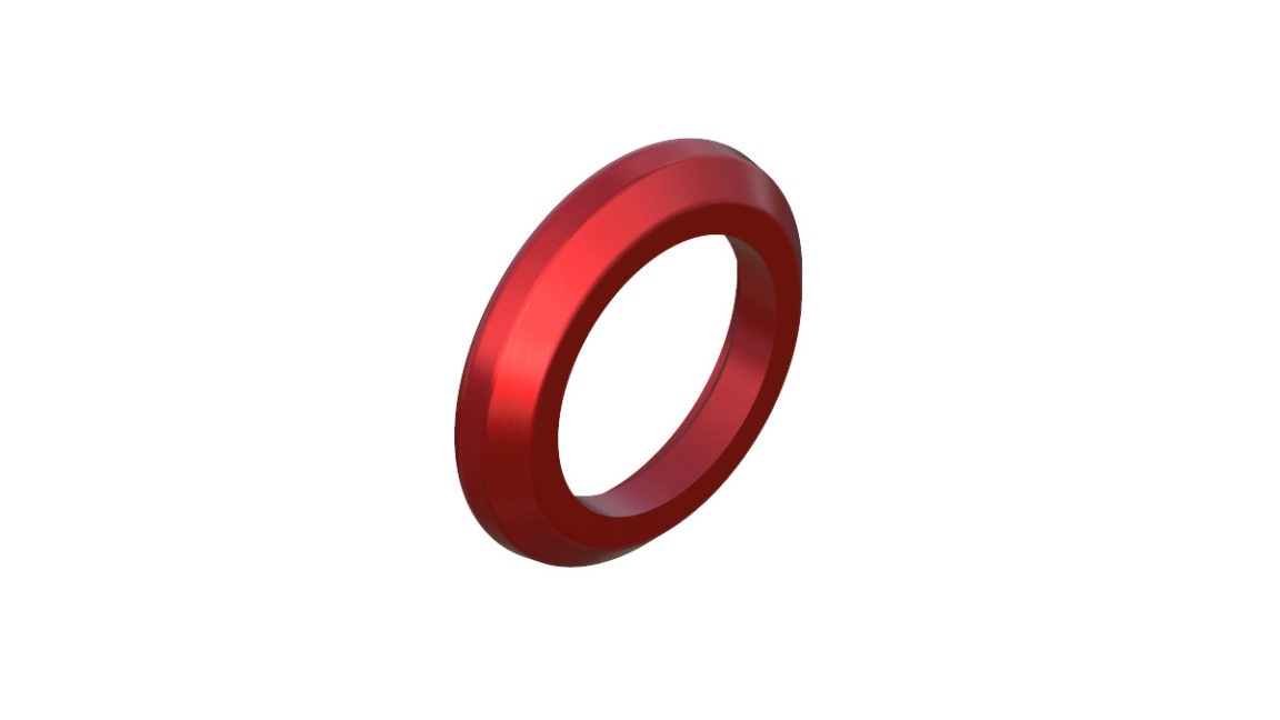 Onyx Ring, Seal 041796 in Red
