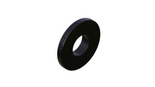 Onyx Washer, Flat 8mm 099046 in Black
